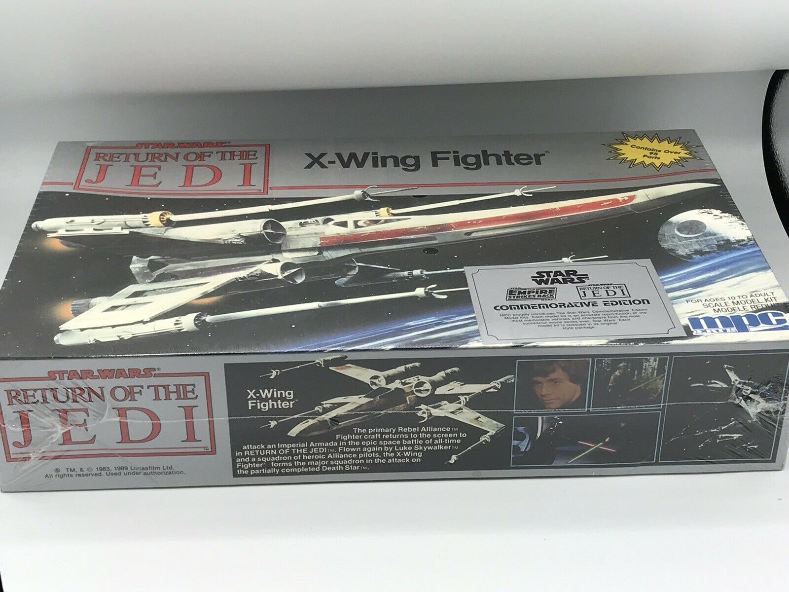Jahr 1989 Stern WARS ROTJ MPC LUKE'S X-WING Modelll KIT SHRINK WRAPPED BRAND NEW