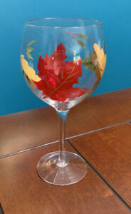 Fall-Autumn-Leaves-Drinking-Glass-Wine-Goblet