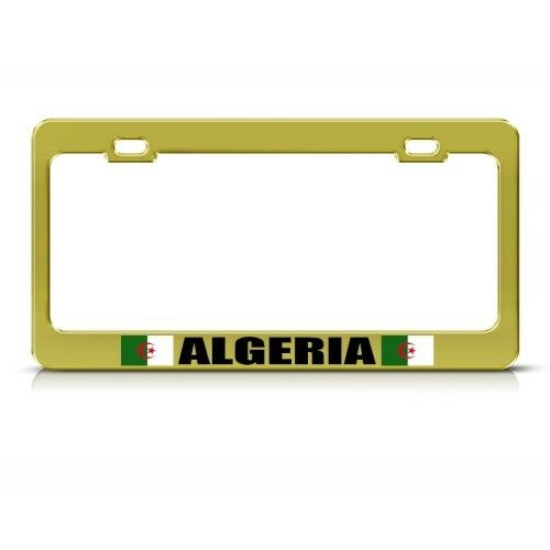 ALGERIA ALGERIAN GOLD COUNTRY Metal License Plate Frame Tag Holder Two Holes