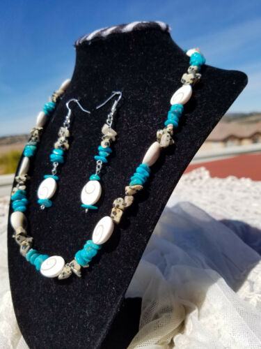 Set Ocean Earring Turquoise Blue Treasure Collection Beaded Necklace qwISx8Pg