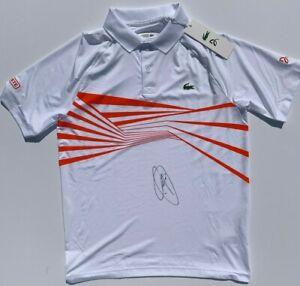 Novak Djokovic Signed Autographed Lacoste Tennis Polo Shirt Wimbledon Psa Dna Ebay