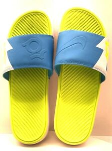 b9afa1c0f Nike Solarsoft KD Slide White Volt-Vivid Blue US Size 12 FREE ...