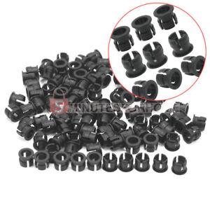 100-Base-Attacco-Presa-PORTALED-Porta-LED-Dia-5MM-in-Plastica-Nero-Fai-da-Te