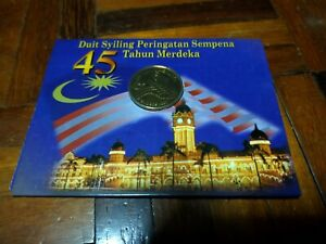 RM1 coin card 45th national day hari merdeka Independence 2002 commemorative unc