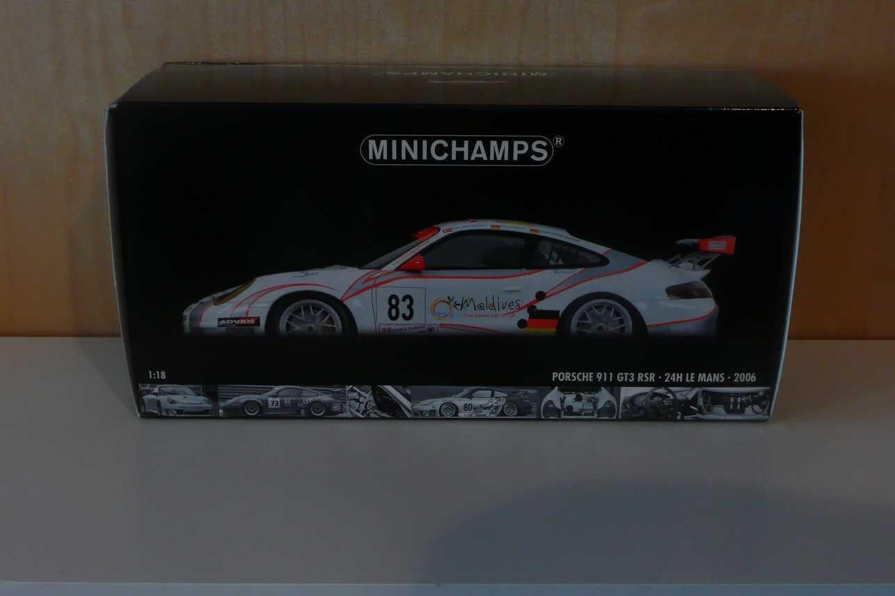 911 porsche  996 gt3 rsr le hommes 2006 minichamps 1 18  marque