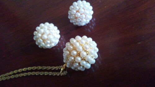 Joan Rivers Faux Pearl Necklace and Earrings Set