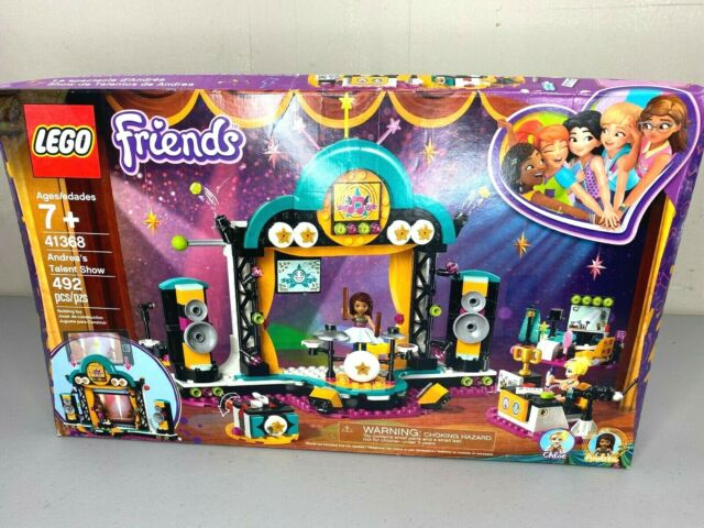 Lego Friends Andrea's Talent Show 41368  492 Pieces Box Smashed New