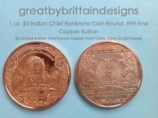 20 pieces-1 oz $1 Black Eagle Copper Coin Round .999 Fine Copper Bullion