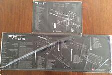 AR15 M16 M4 BATTLE RIFLE & COLT 1911 PISTOL COMPUTER GAME XXL MOUSE MATS TEKMAT