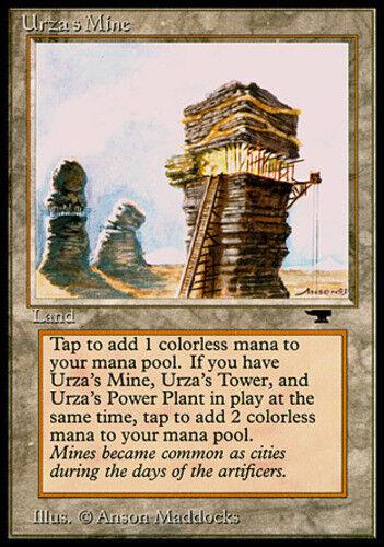 MTG-1x-Heavy Play -Antiquities English-Urza/'s Mine Tower
