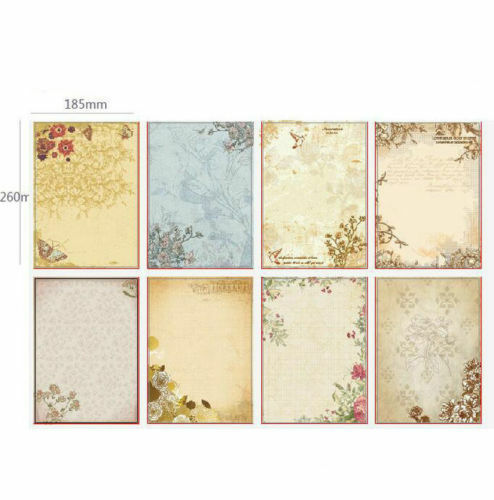 80 Sheets Beautiful Flower Pattern Letter Writing Stationery Paper Pad