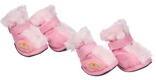 Premium Plush Fur-Comfort Suede Supportive Pet Dog Shoes Boots Booties