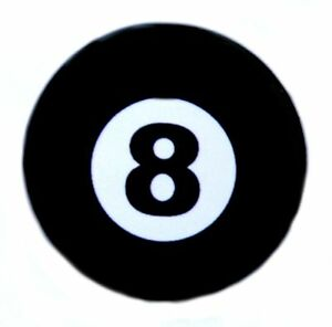 "Novelty Fun Button Pinback Badge 1/"" Punk Magic 8 BALL"