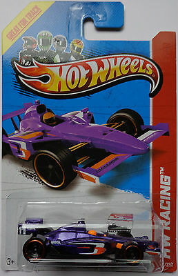 2013 Hot Wheels HW RACING 2011 Indycar Oval Course Race Car Col. #126 (Purple)