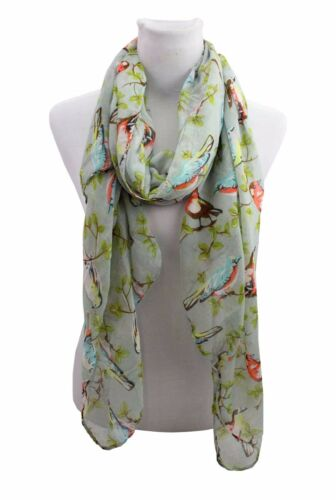 Donne Lady Bird Animale Stampa Morbida Large Estate Primavera Autunno Sciarpa Wrap