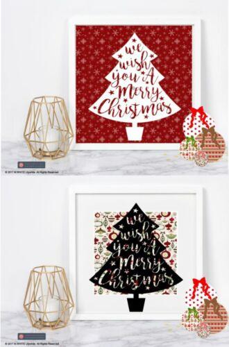 Christmas Tree Sticker for BOX FRAME//3d FRAME We Wish you a Merry Christmas