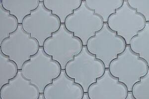 Snow White Arabesque Glass Mosaic Tiles - Kitchen Backsplash/Bathroom Tile