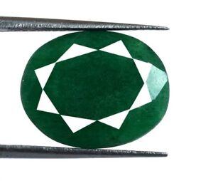 11 Carat+ Natural Oval Cut Brazilian Green Emerald Loose Gemstone