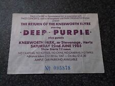 DEEP PURPLE   TICKET  STUB  KNEBWORTH PARK 22nd JUNE 1985