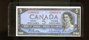 1954-Bank-of-Canada-5-Beattie-Rasminsky-UNC-WL32