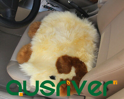 Beige Goat Premium Quality Australia Sheep Skin Wool Car Home Seat Cushion Cover