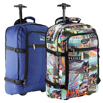 Wheeled Cabin Bag Hand Luggage Trolley Backpack Suitcase Ryanair Easyjet