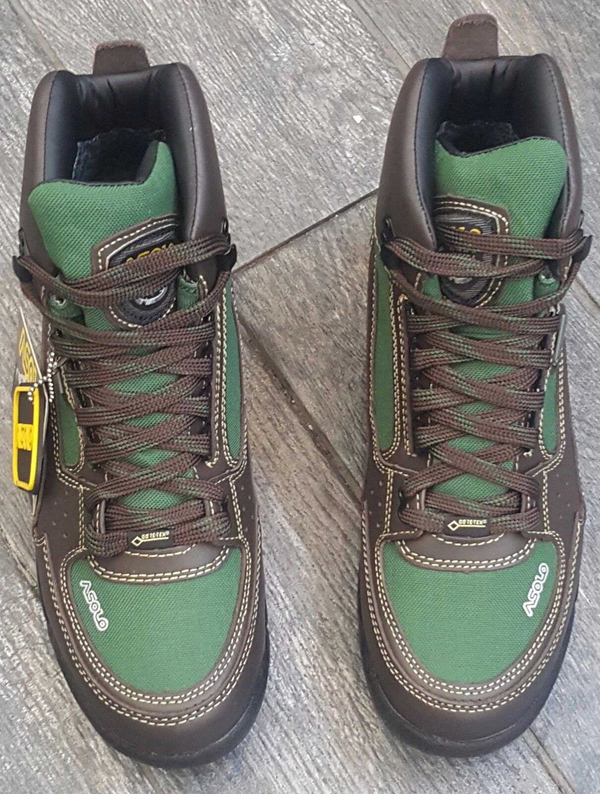 ASOLO Men's AS-501M SKYRISER BROWN-GREEN HIKING WINTER TREK GORE-TEX BOOTS