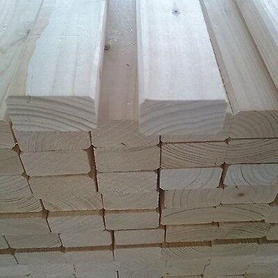 Rahmenholz Fichte B-WARE 24x44mm 2,00m Holz Kantholz Holzbalken Bauholz KVH Zaun
