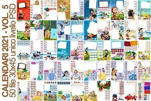 CALENDARIO   100 Maschere PSD per Calendari 2021   Volumi 4 5