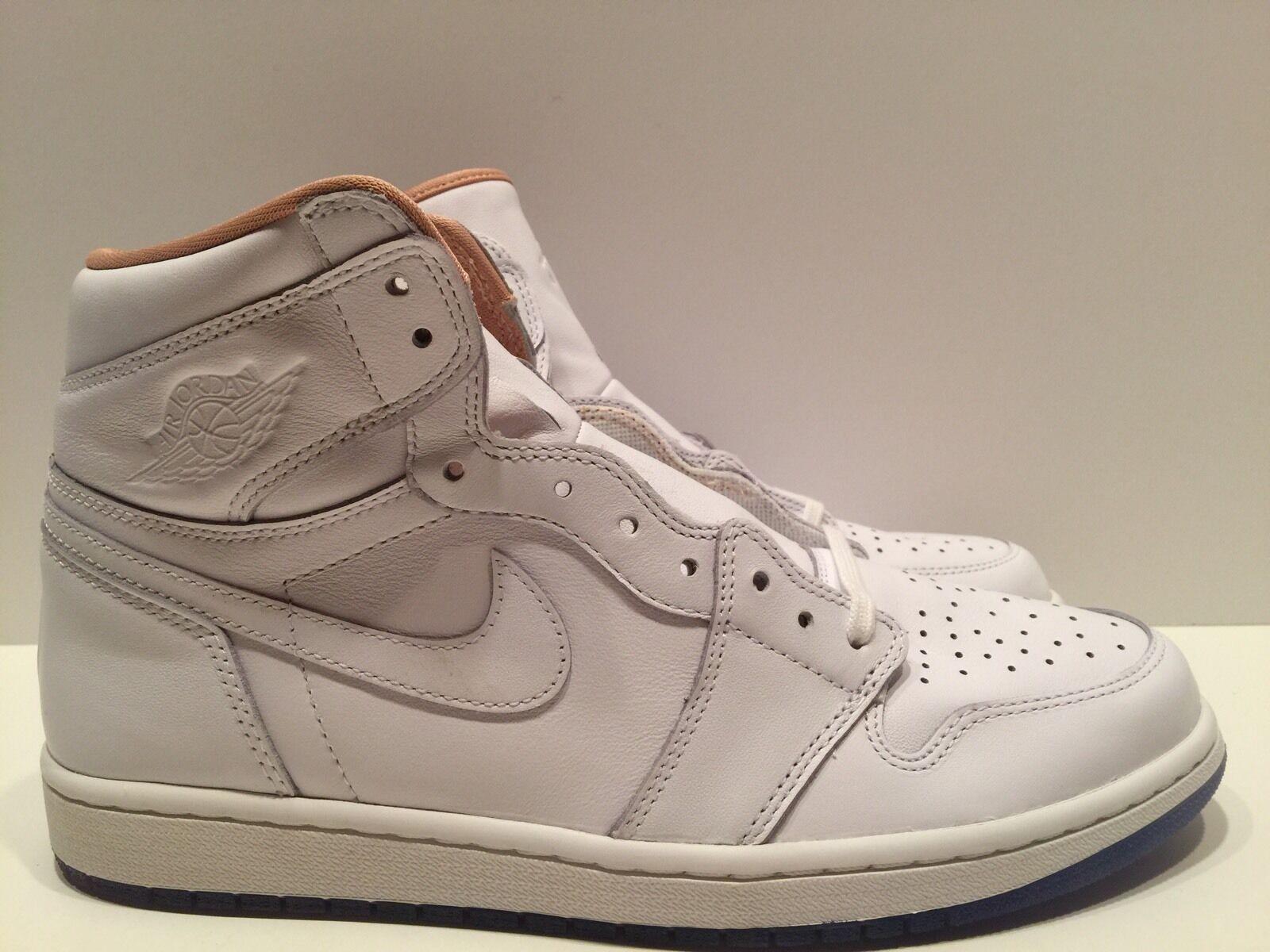 Nike air jordan 1 'alta la los angeles white premio 819012 130 sz 11