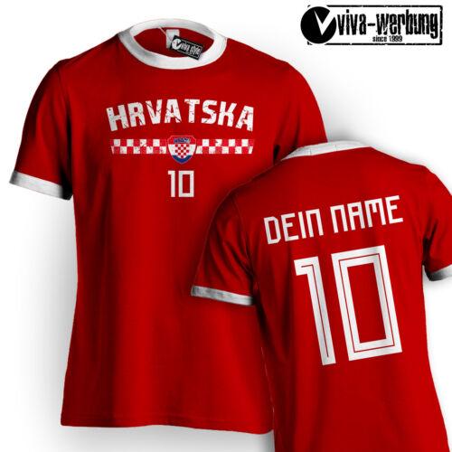 WM TShirt 2018 Fußball mit Name /& Zahl Trikot Deutschland Island Hrvatska Polen