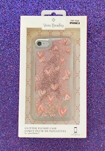 NEW-Vera-Bradley-Glitter-Flurry-Case-for-iPhone-7-8-Hearts-Pink