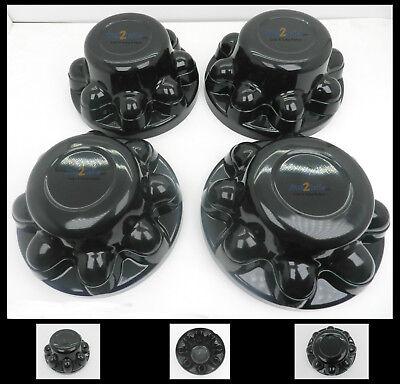 "1 camper QT765BHN cargo Black ABS Quick Trailer Hub Cap Cover 8-lug on 6.5/"""