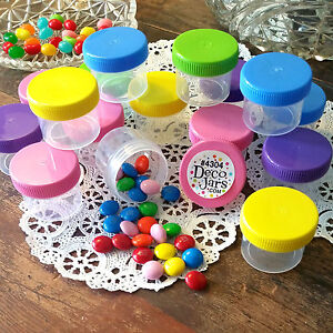 25-Empty-Candy-Jars-1oz-Containers-Screw-Top-Party-Favors-DecoJars-4304-USA-New