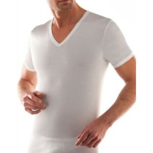 Capable Maglia Da Uomo Scollo A V Liabel 0302853 Mezza Manica In Cotone Mercerizzato Ample Supply And Prompt Delivery Abbigliamento E Accessori