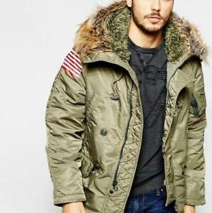 NEU-mit-Etikett-Denim-amp-Supply-Military-Parka-Down-Snorkel-Jacket-Army-Green-sz-XL