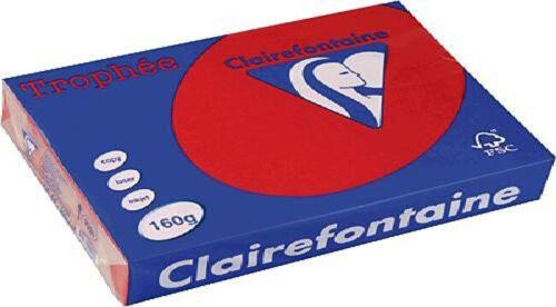 Clairalfa Multifunktionspapier Trophée A4 160 g//qm kirschrot 250 Blatt