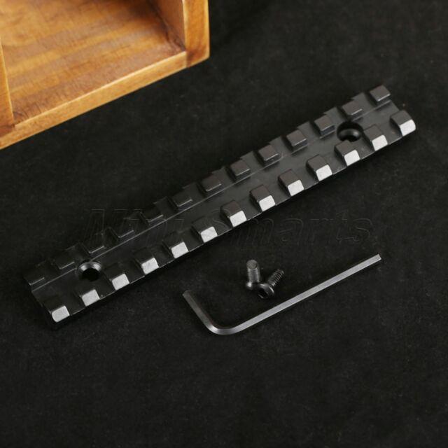 "5"" Long 13 Slots Picatinny Weaver 20mm Scope Rail Mount Base for Rifle Shotgun"