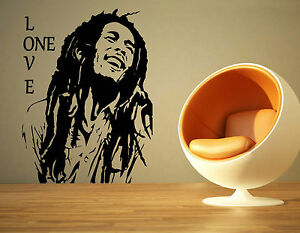 BOB MARLEY MUSIC ONE LOVE REGGAE RASTA ALBUM WALL ART STICKER | eBay