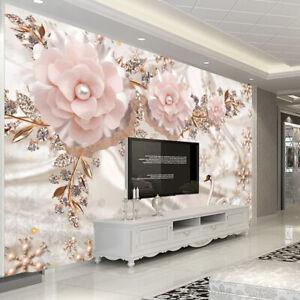 Details About 3d Flower Bling Swan Wall Mural Wallpaper Living Room Bedroom Lounge
