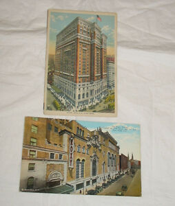 LOT-2-Vintage-Postcards-New-York-City-Roxy-Theater-Hotel-McAlpin-NYC