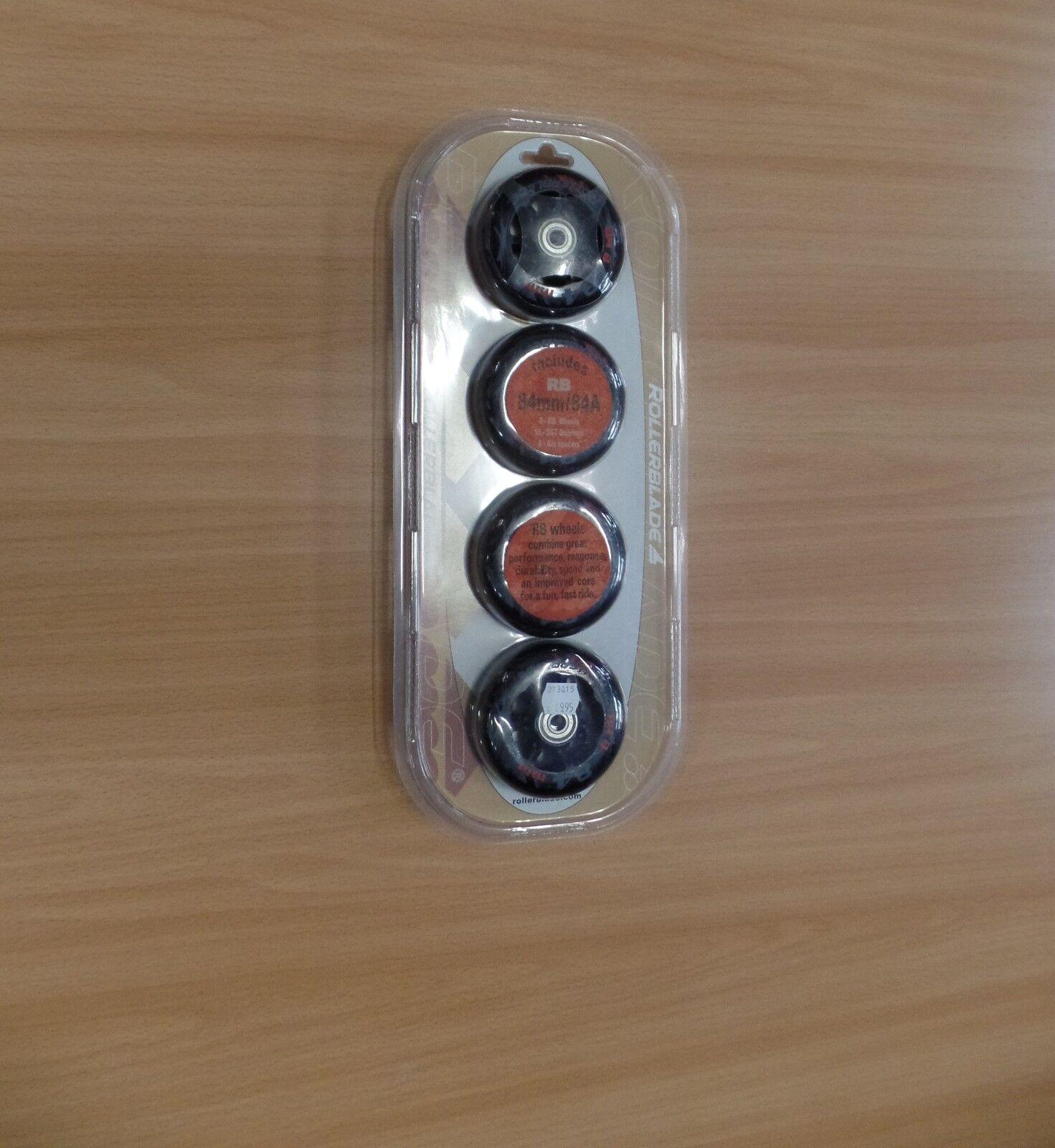 Rollerblade Rollen - Set 84mm 84A - NEU -