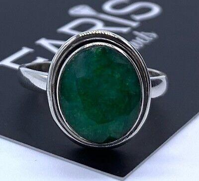925 Stamped Sterling Silver Ladies Turquoise Designer Ring Round Gemstone Gift