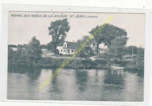 POSTCARD-QUEBEC-CANADA-Ferme-au-bords-de-la-riviere-St-Jean-Edit-WIALLARD