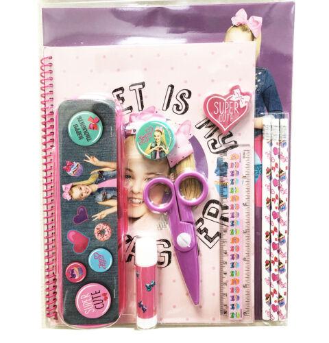 JOJO SIWA 11pcs School Stationery Value Pack Gift Set with Plastic Pencil Case