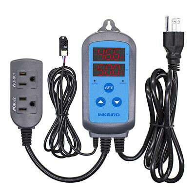 Inkbird Digital Humidity Controller 110V Humidifier Hygrostat Hydroponics Grow