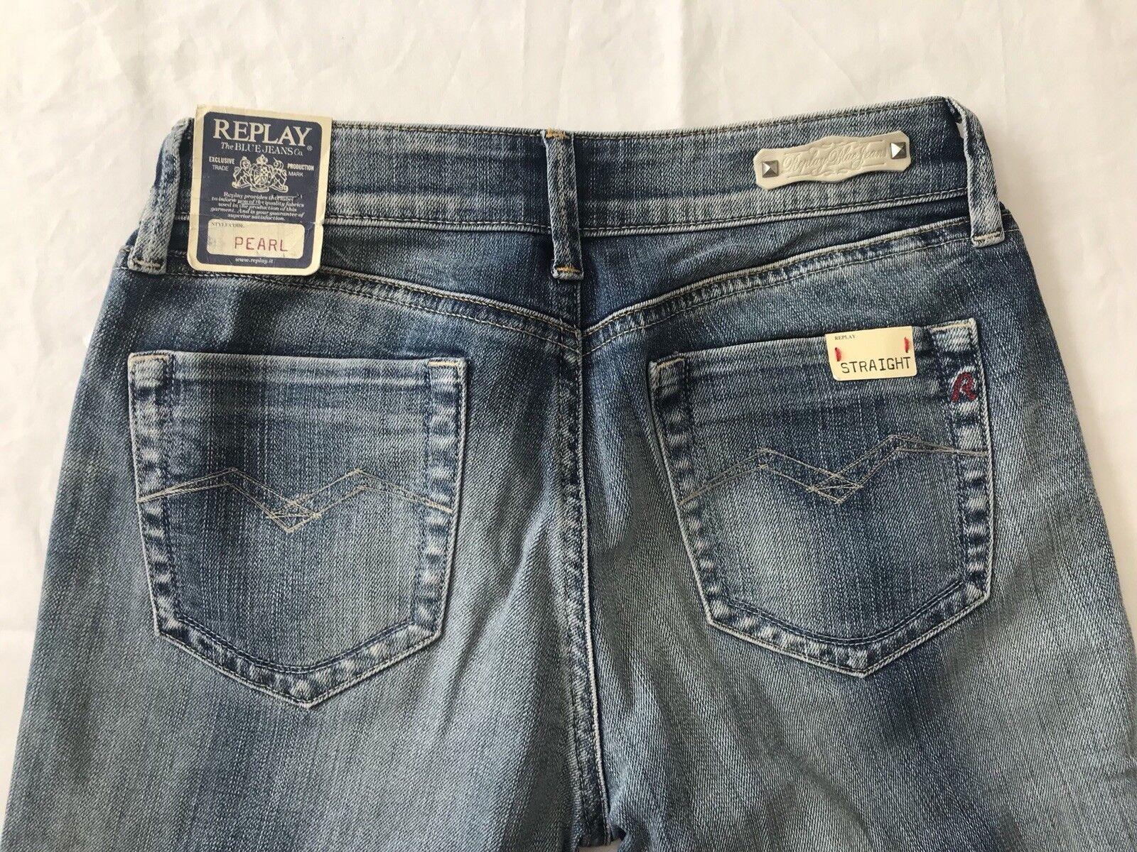 Nouveau Replay Jeans Pearl WV559, Taille 27 34, Prix De Vente Conseillé 108  designer
