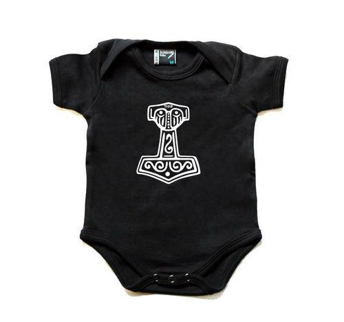 Baby-Body Thor Body Strampler Thors Hammer Mjölnir