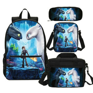 How To Train Your Dragon édenté Lumière Fury Enfants École Sac à Dos Set Lot-afficher Le Titre D'origine