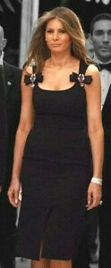 Dolce-amp-Gabbana-Crystal-Jewel-Bow-Embellished-Black-Cocktail-Dress-US-0-2-IT-36